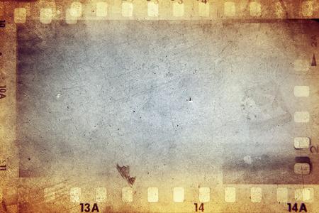 film: Film negative frames on brown background