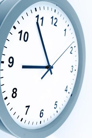clock face: Closeup of hands on clock face