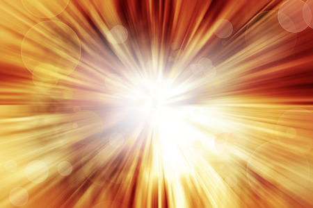 Bright explosion. Circles on orange background Stock Photo