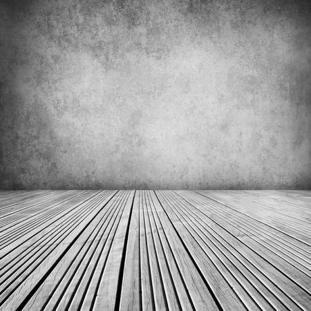 floorboards: Suelos de madera y pared en blanco