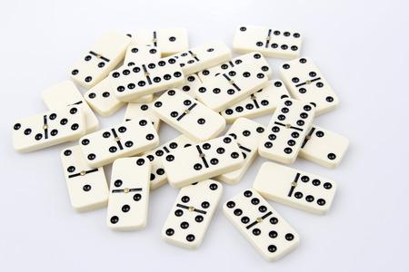 dominoes: Dominoes tiles laying flat