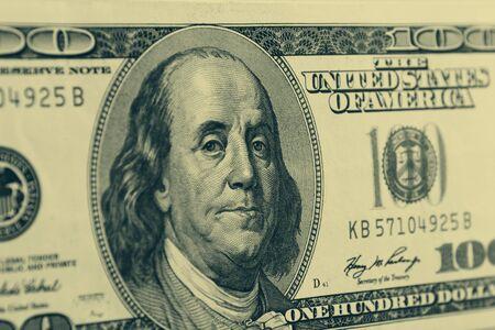 benjamin: Benjamin Franklin on one hundred dollar banknote