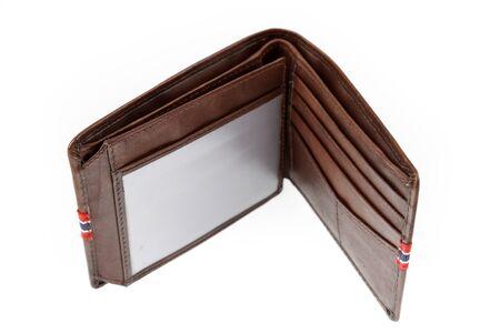 empty wallet: Empty wallet on plain background