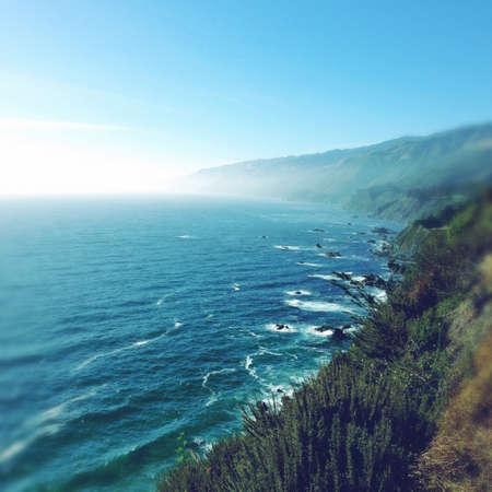 coastline: Sea and coastline, California, USA