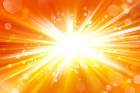 Explosión brillante. Círculos sobre fondo amarillo Foto de archivo - 42816262