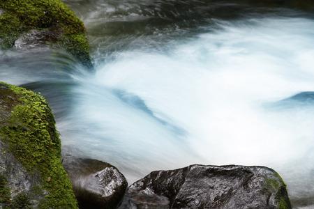 rushing water: Waterfall and rocks in stream