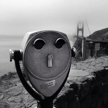 operated: Coin operated binoculars, Golden Gate bridge, San Francisco