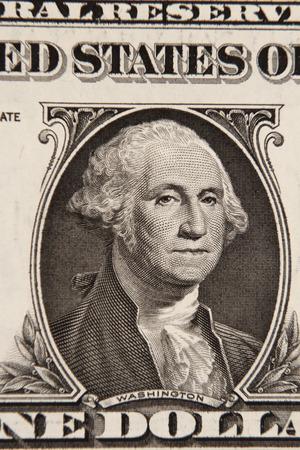 one dollar bill: George Washington on American one dollar banknote