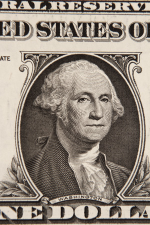 american dollar: George Washington on American one dollar banknote