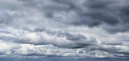 dark sky: Dark ominous storm clouds. Dramatic sky