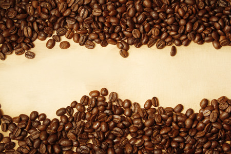 frijoles: Primer de los granos de café. Copia espacio Foto de archivo