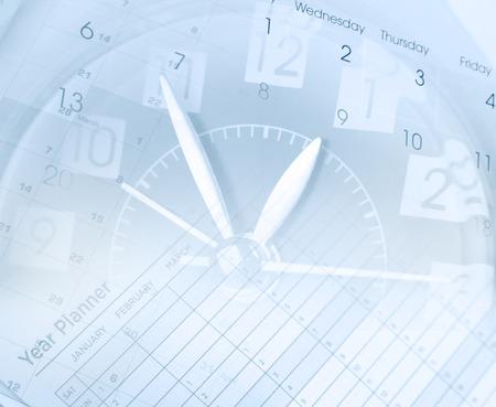 Clock face and calendars composite Stock Photo - 42816717