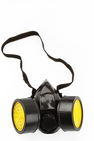 respirator: Respirator isolated on plain background