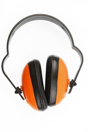 protectors: Ear protectors over plain background