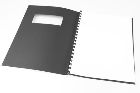 booklet: Open folder on plain background