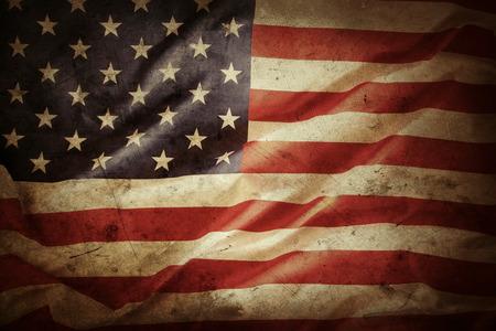 spojené státy americké: Detailní záběr na grunge americké vlajky Reklamní fotografie