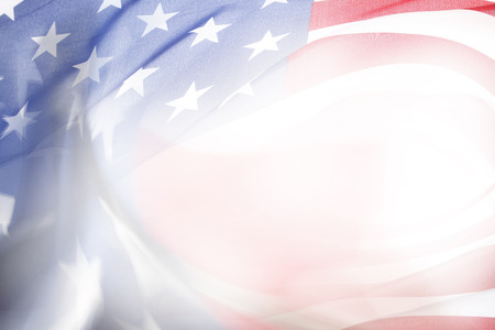 ��copy space �: Abstract USA flag. Copy space