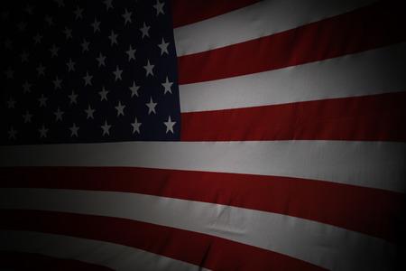 bandera estados unidos: Estrellas de la bandera americana y las rayas Foto de archivo