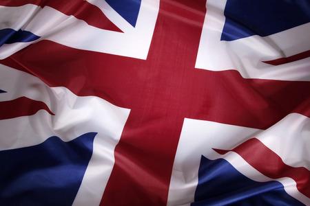 bandera inglesa: Primer de la bandera de Union Jack Foto de archivo