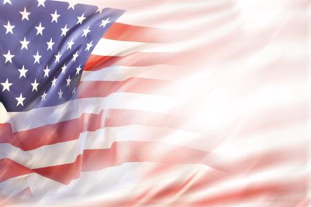 Résumé drapeau USA. Espace texte