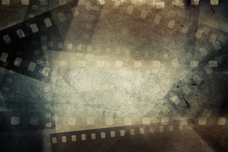 old movies: Film negative frames on grunge background
