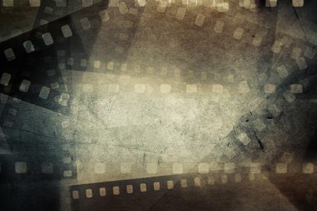 cine: Marcos de negativos de pel�cula en el fondo del grunge Foto de archivo