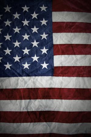 patriotism: Closeup of American flag