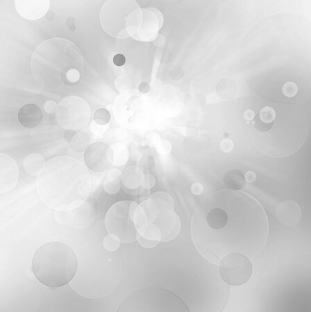 bokeh background: Abstract grey and white defocused bokeh circles background