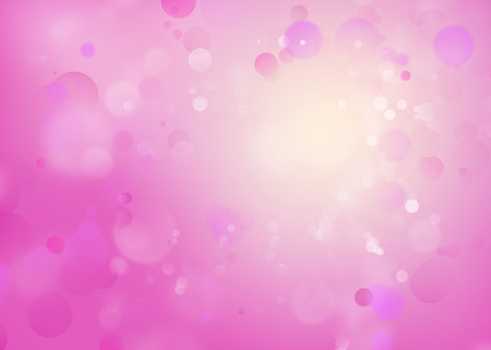 colours: Pink and white circles background