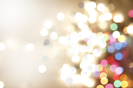 christmas lights: Colorful circles of light abstract background Stock Photo