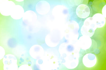 blue green background: Green and blue circles abstract background Stock Photo