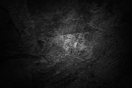 テクスチャー: 灰色の壁の背景。ダーク エッジ