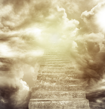 Stairway leading up to heavenly sky