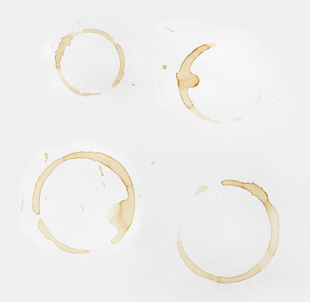 coffee stains: Coffee stains on plain paper