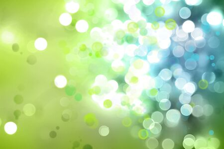 shiny: Green and blue circles abstract background Stock Photo