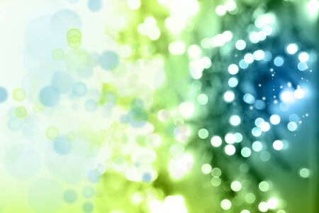 blue and green: Green and blue circles abstract background Stock Photo