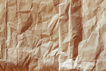 wrinkled: Closeup of brown paper texture background Stock Photo