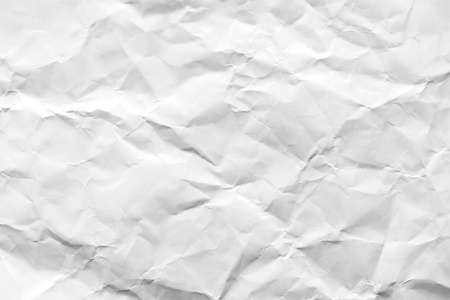 wrinkled: Closeup of white paper texture Stock Photo