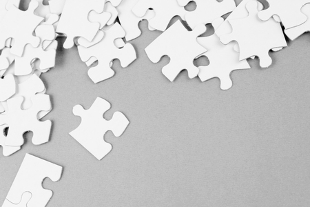 puzzle pieces: Loose jigsaw puzzle pieces