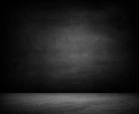 Hormigón: Piso vacío y pared en blanco Foto de archivo