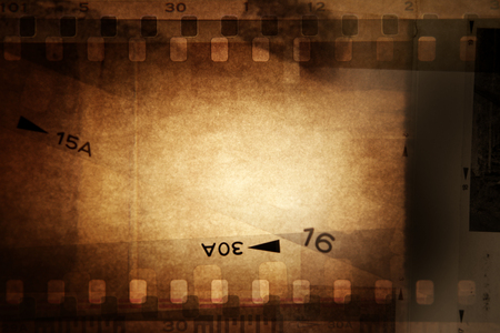 film  negative: Film negative frames on brown background