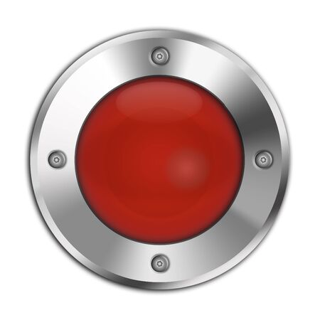 internet buttons: Red button isolated on white background
