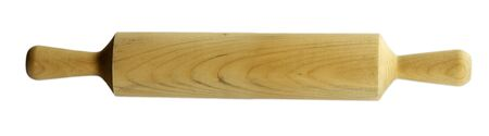 rolling pin: Rolling pin on plain white background