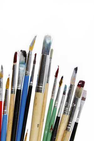 paintbrushes: Paintbrushes isolated on white background