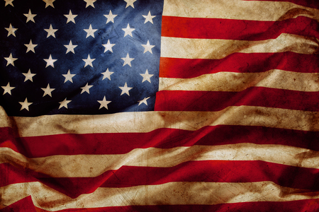 Close-up van grunge Amerikaanse vlag