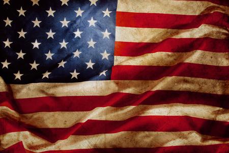 Gros plan de grunge drapeau am?ricain Banque d'images