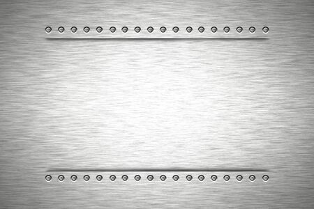 solidity: Rivets in brushed steel background