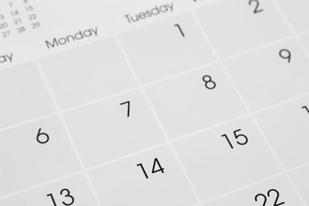 Detalle de los números de página calendario  Foto de archivo - 46623976