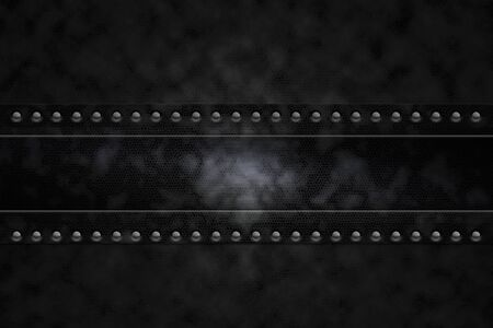 leatherette: Rivets in black leatherette background