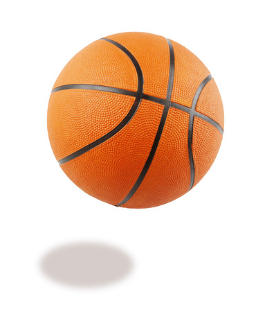 basketball background: One basketball on plain background